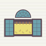 Flat Design Window Royalty Free Stock Image