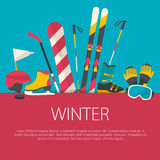 Flat design winter sport concept Stock Image