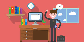 Flat design, work space concept illustration Stock Image