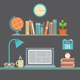 Flat Design Workplace royalty free illustration