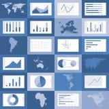 Flat design world maps, graphics vector. Set of flat design world map, graphics and diagrams vector illustration Royalty Free Stock Image