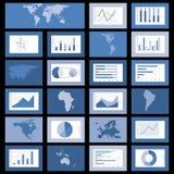 Flat design world maps, graphics vector. Set of flat design world map, graphics and diagrams vector illustration Royalty Free Stock Photos