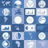 Flat design world maps, graphics vector. Set of flat design world map, graphics and diagrams vector illustration Stock Image