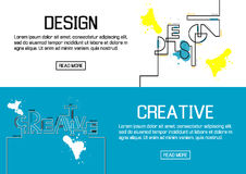 Flat designed banners for design and creative. vector Royalty Free Stock Photo