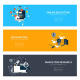 Flat designed banners Stock Images