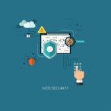 Flat designed concept illustration template for education. Flat designed concept illustration template for web security. Design elements for web and mobile Vector Illustration