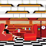 Flat designed diner Royalty Free Stock Photo