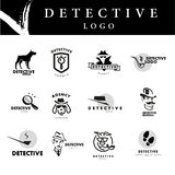 Flat detective agency logo design. Stock Images