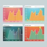 Flat diagram. Design, converter template Royalty Free Stock Photos