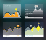 Flat diagram design, converter. Template Stock Images