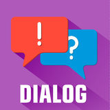 Flat dialog background concept. Vector Stock Image