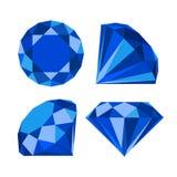 Flat diamond icon Stock Photos