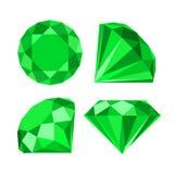 Flat diamond icon Royalty Free Stock Photography