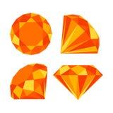 Flat diamond icon Royalty Free Stock Images