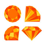 Flat diamond icon. Diamond icons set, flat style design Royalty Free Stock Images