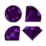 Flat diamond icon. Diamond icons set, flat style design vector illustration