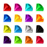 Flat diamond icon. Icon set diamonds with a wide variety of colors royalty free illustration