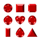 Flat diamond icon. Set of diamond shape, flat design vector illustration