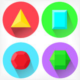 Flat  diamond icons collection Royalty Free Stock Image