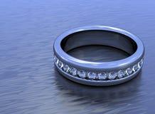 Flat diamond ring Royalty Free Stock Photos