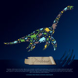 Flat dinosaur and prehistoric reptile animal infographic banner Royalty Free Stock Photos