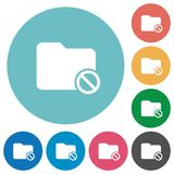 Flat disabled folder icons. Flat disabled folder icon set on round color background Royalty Free Stock Images