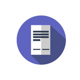 Flat document icon. Folder with business files. Question with a long shadow. Icon in the circle Royalty Free Stock Photography