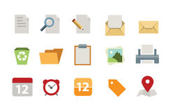 Flat Documents icon set Stock Photos