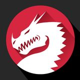 Flat Dragon Icon. In eps format royalty free illustration