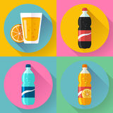 Flat Drink icons for web and applications Stock Photography