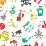 Flat Drugs Pattern royalty free illustration