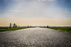Flat, Dutch, country road Royalty Free Stock Image