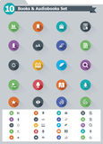 Flat e-book icon set Royalty Free Stock Photography