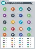 Flat e-book icon set Royalty Free Stock Photography