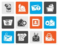 Flat E-mail and Message Icons Stock Photos
