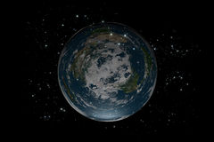 The Flat Earth inside stars Stock Photography