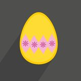 Flat vector easter egg on dark background Stock Photo