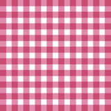 Flat easy tilable red and white gingham pattern. Flat easy tilable red and white gingham repeat pattern print, seamless background, wallpaper with fabric texture stock illustration