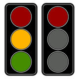 Flat easy-to-edit traffic lamp / traffic light graphics Royalty Free Stock Images