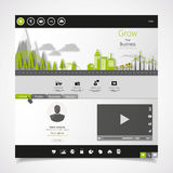 Flat eco city on Flat Website Template Design Royalty Free Stock Photos