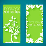 Flat eco leaf banners concept. Vector illustration Royalty Free Stock Photo