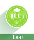 Flat ecology concept Royalty Free Stock Image