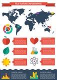 Flat ecology infographic background Stock Photos