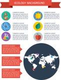 Flat ecology infographic background Royalty Free Stock Photo