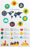 Flat ecology infographic background Royalty Free Stock Photos