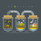 Flat Ecosystem Oxygen Royalty Free Stock Photography