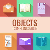 Flat education concept icon set. vector Stock Image