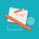 Flat education content Royalty Free Stock Photo