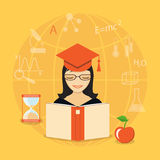 Flat education content Royalty Free Stock Photos