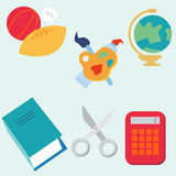 Flat Education Icons Royalty Free Stock Image